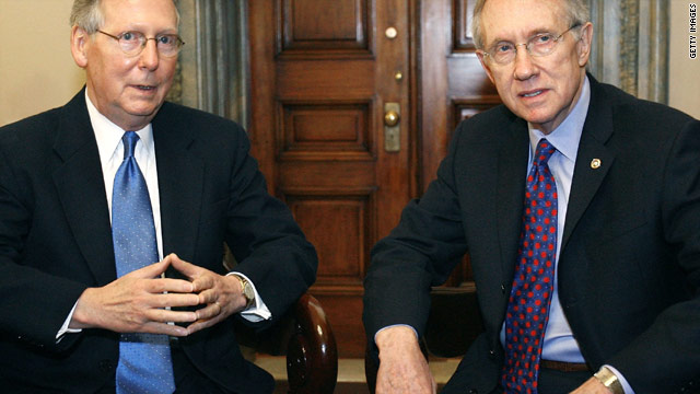 Reid, McConnell at odds on debt deal progress