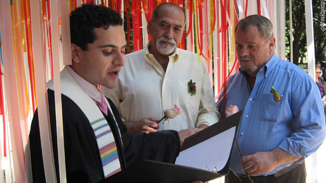 New Yorkers celebrate same-sex marriage in pop-up wedding chapels