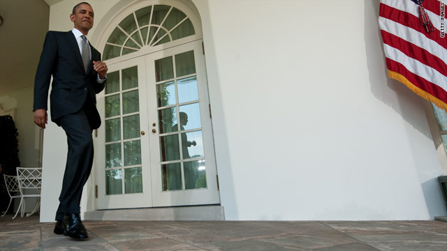 Obama back to the Rose Garden