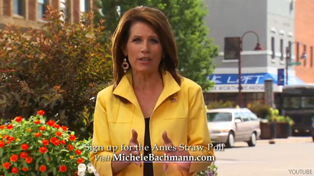 Bachmann&#039;s debt vote pride hits TV