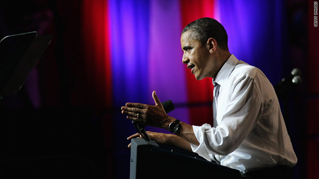 Obama calls for end to 'partisan games' at 50th birthday bash