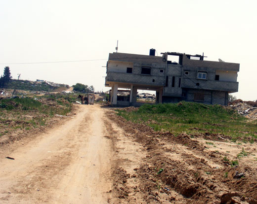 The Abu Hajjaj family home in Gaza