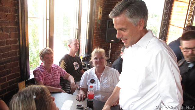 Huntsman woos New Hampshire moderates