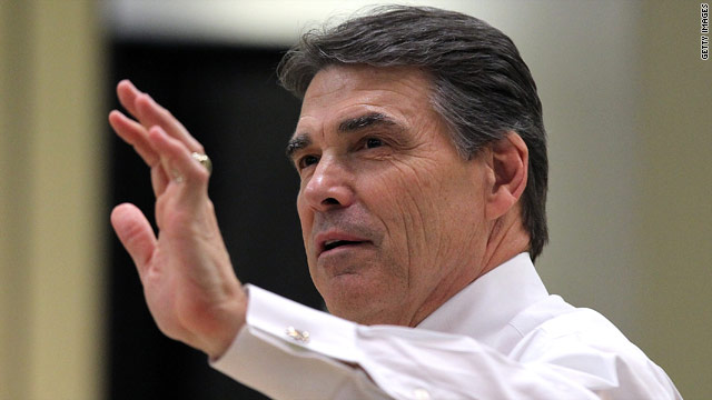 Perry mixes political script with Scripture
