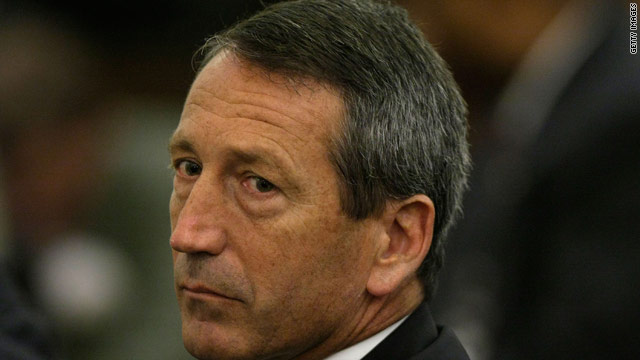 Sanford steps out, criticizes Romney and Pawlenty
