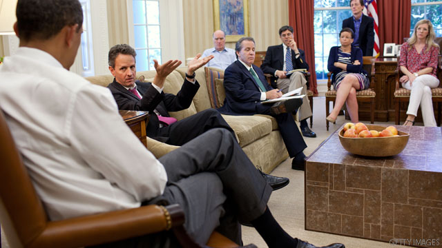 Tim Geithner tells Obama: I&#039;ll stay in job