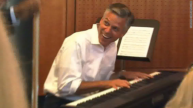 Huntsman plays 'Hit the Road Jack' to Obama