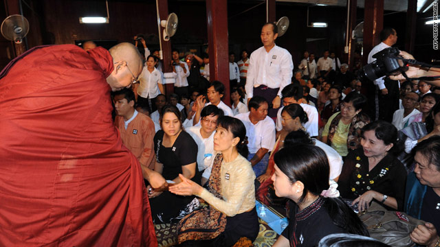 Suu Kyi attends anniversary of Myanmar uprising that made her an icon