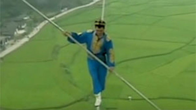 Gotta Watch: Tightrope stunts