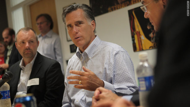 Romney says &#039;corporations are people,&#039; heckled at Iowa event
