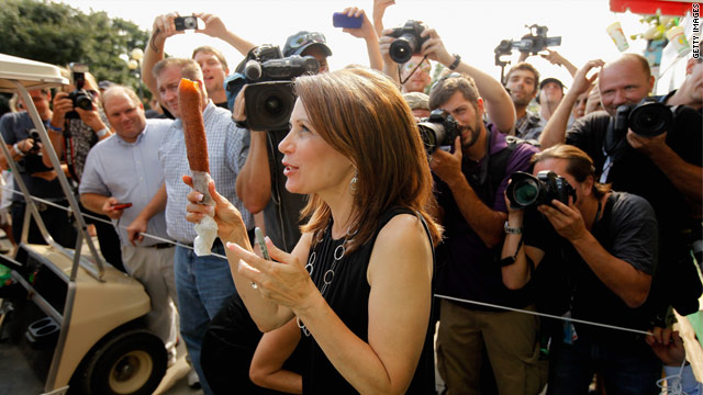 Bachmann involved in unusual campaign moment