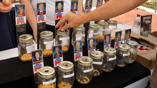 Iowa fair serves up food, GOP politics
