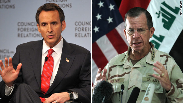 Mullen not bothered by Pawlenty 'general' remark