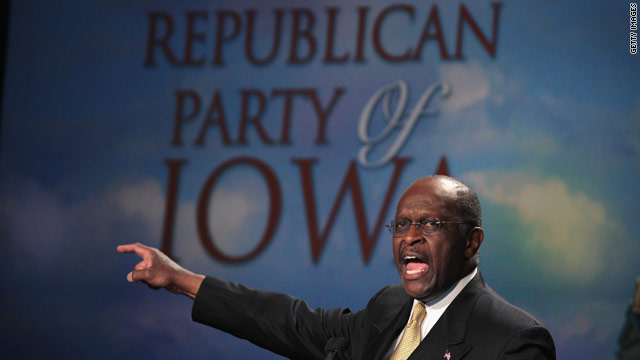 Cain makes no apologies at Iowa straw poll
