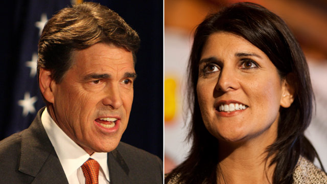 Gov. Perry a superstar in eyes of Gov. Haley