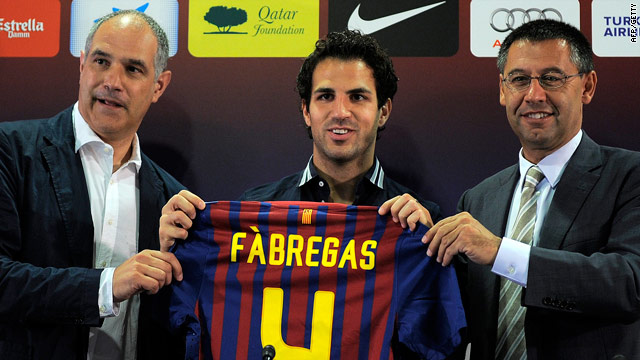 Cesc Fabregas will be hoping for success wearing the No.4 shirt at the Camp Nou.