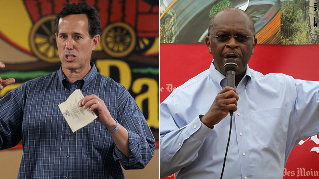 Santorum takes aim at Cain, introduces &#039;0-0-0 plan&#039;