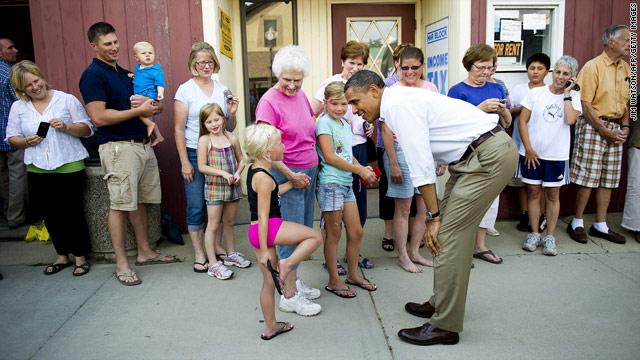 Obama Bus Tour's Stop #2: Zumbrota, MN