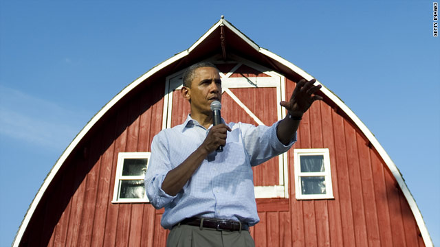 Obama knocks politics, calls for growth on three-day Midwest bus tour