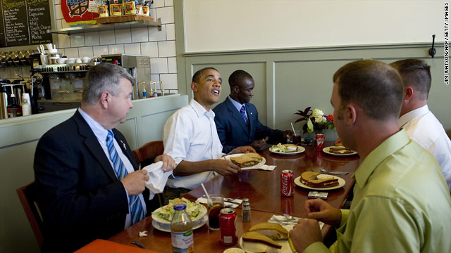 Obama Bus Tour's next stop: Old Market Deli
