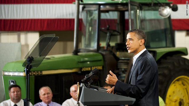 Obama Bus Tour Stop #6: Peosta, IA