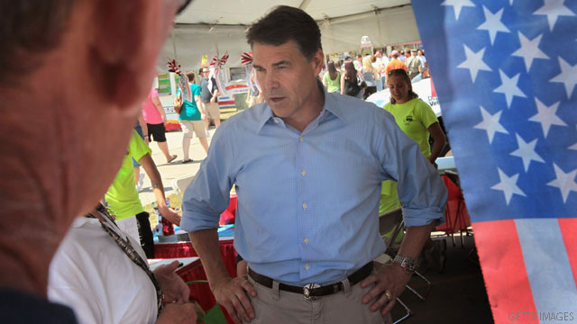 Perry hits back at Obama over jobs