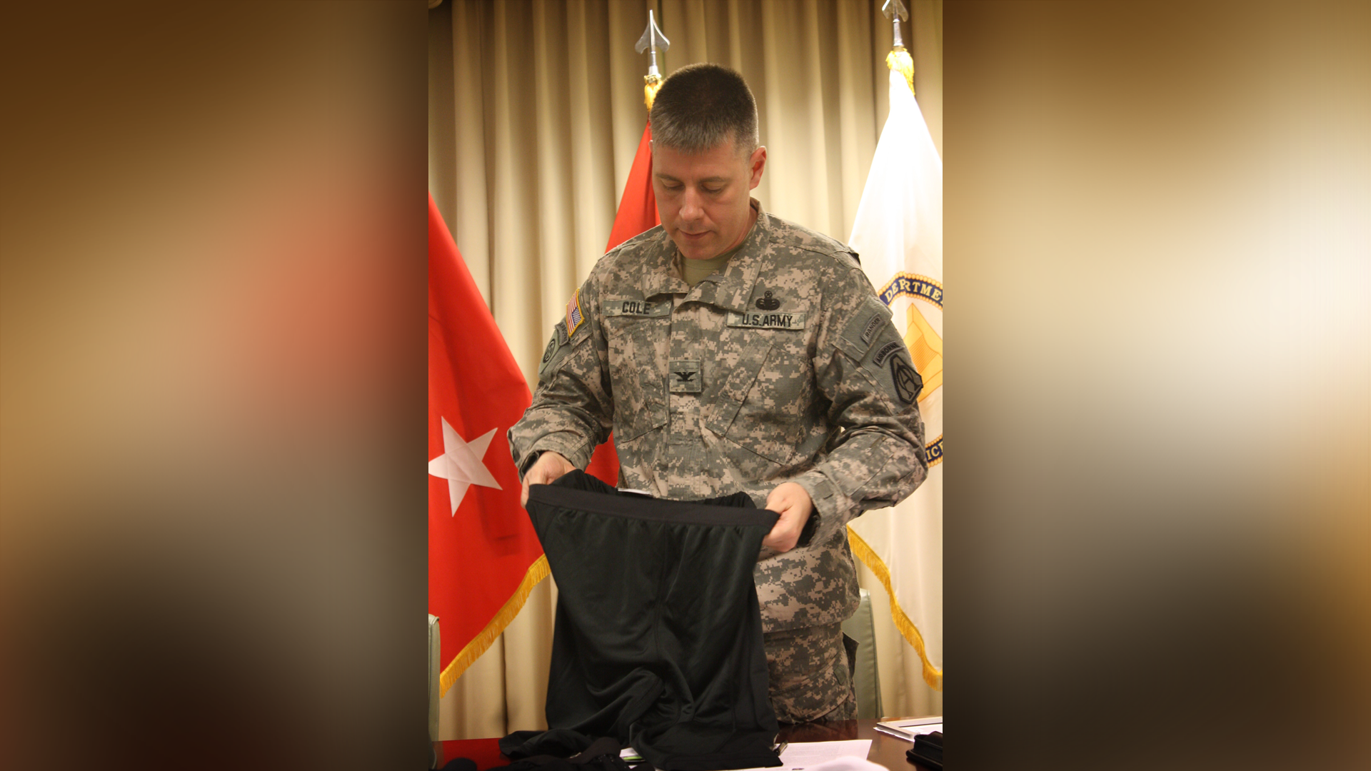 Army: ballistic boxers-yes; ballistic cups-no