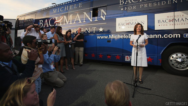 Bachmann says Obama is leading from behind on Syria