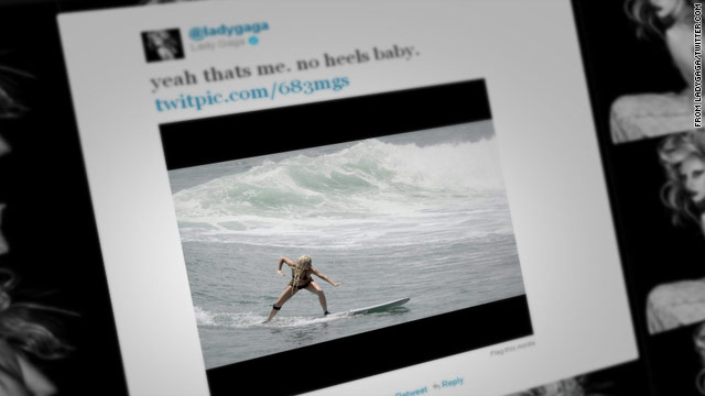 Lady Gaga's a surfer?