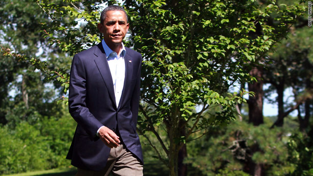 Obama makes statement on Libya from Martha's Vineyard