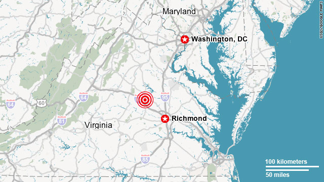 Quake hits near Washington, D.C.