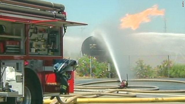 4,800 homes evacuated as rail car burns