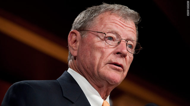 Sen. Inhofe says he&#039;ll oppose Hagel