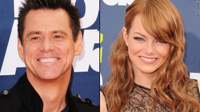 Jim Carrey posts online love letter for Emma Stone