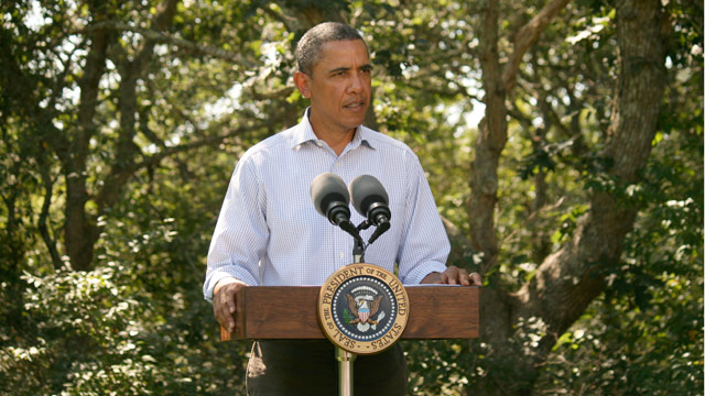 President Obama delivers statement on Hurricane Irene