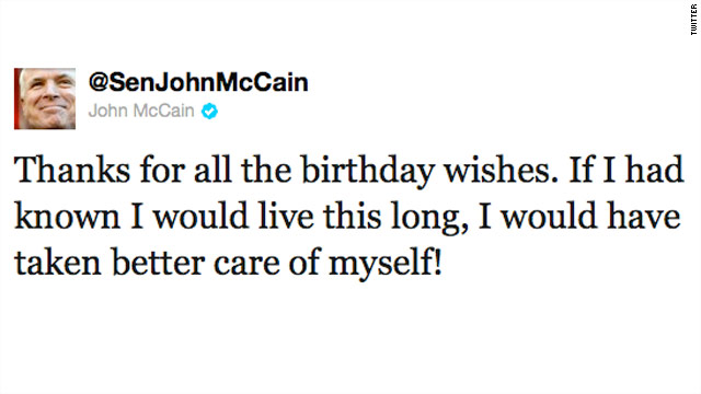 Tweet of the Day: McCain jokes about birthday