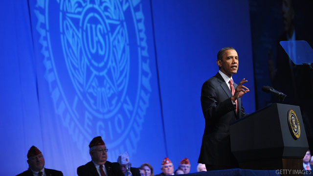 Obama tells vets jobs must be created 'faster'