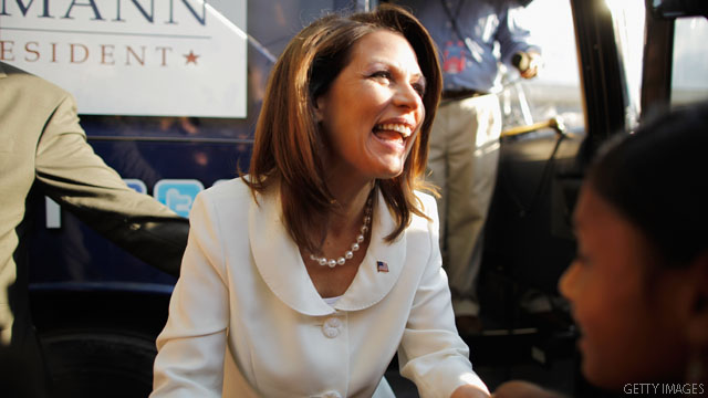 Bachmann points to &#039;great sense of humor&#039; after God joke