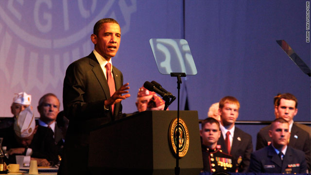 "Obama tells vets jobs must be created ""faster"""