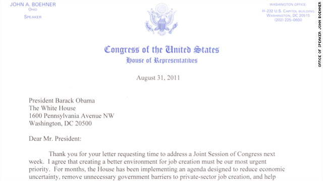 Obama accepts GOP request to push back speech to Congress