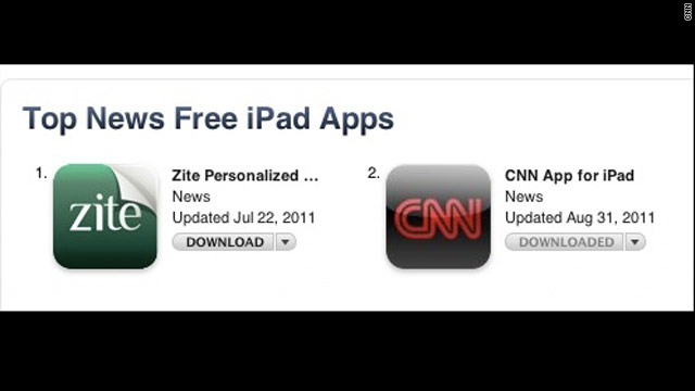Zite downloads rocket to number 1 after news of CNN acquisition