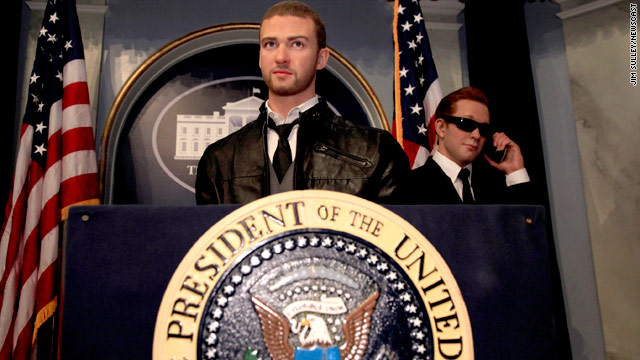 Justin Timberlake's wax figure for president?