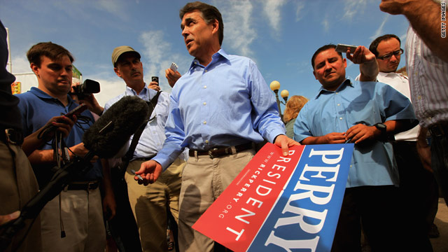 Perry focuses on Obama