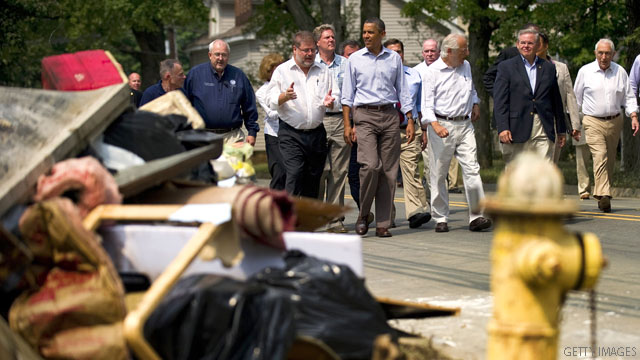 Obama visits storm-battered New Jersey