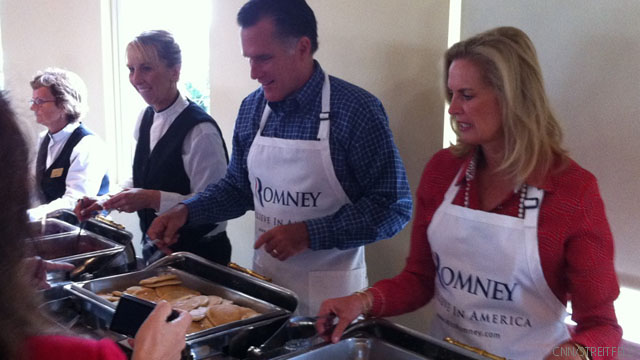 Romney kicks off primary high season with pancakes