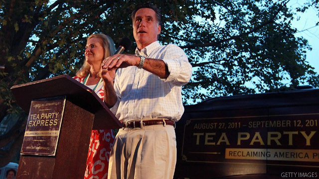 Romney on message at tea party rally