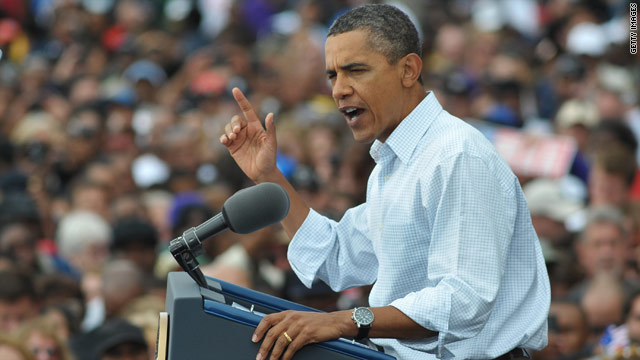 Obama rallies union supporters on Labor Day