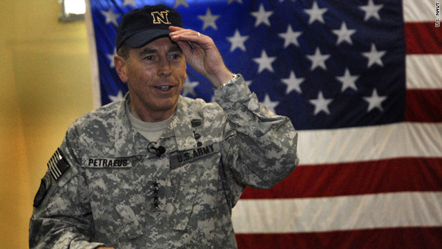 "Petraeus transitions from ""Peaches"" to ""Dave"""