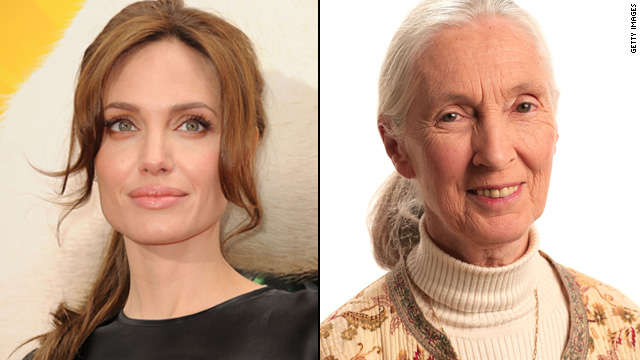 Angelina Jolie lends a hand to Jane Goodall