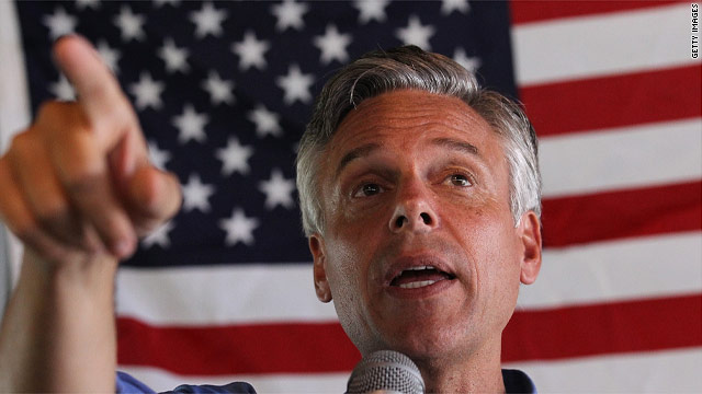 Huntsman throws barbs from New Hampshire